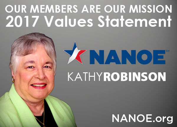 NANOE Contrasts Values With National Council of Nonprofits
