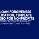 PPP Loan Forgiveness Application, Template And Video for Nonprofits